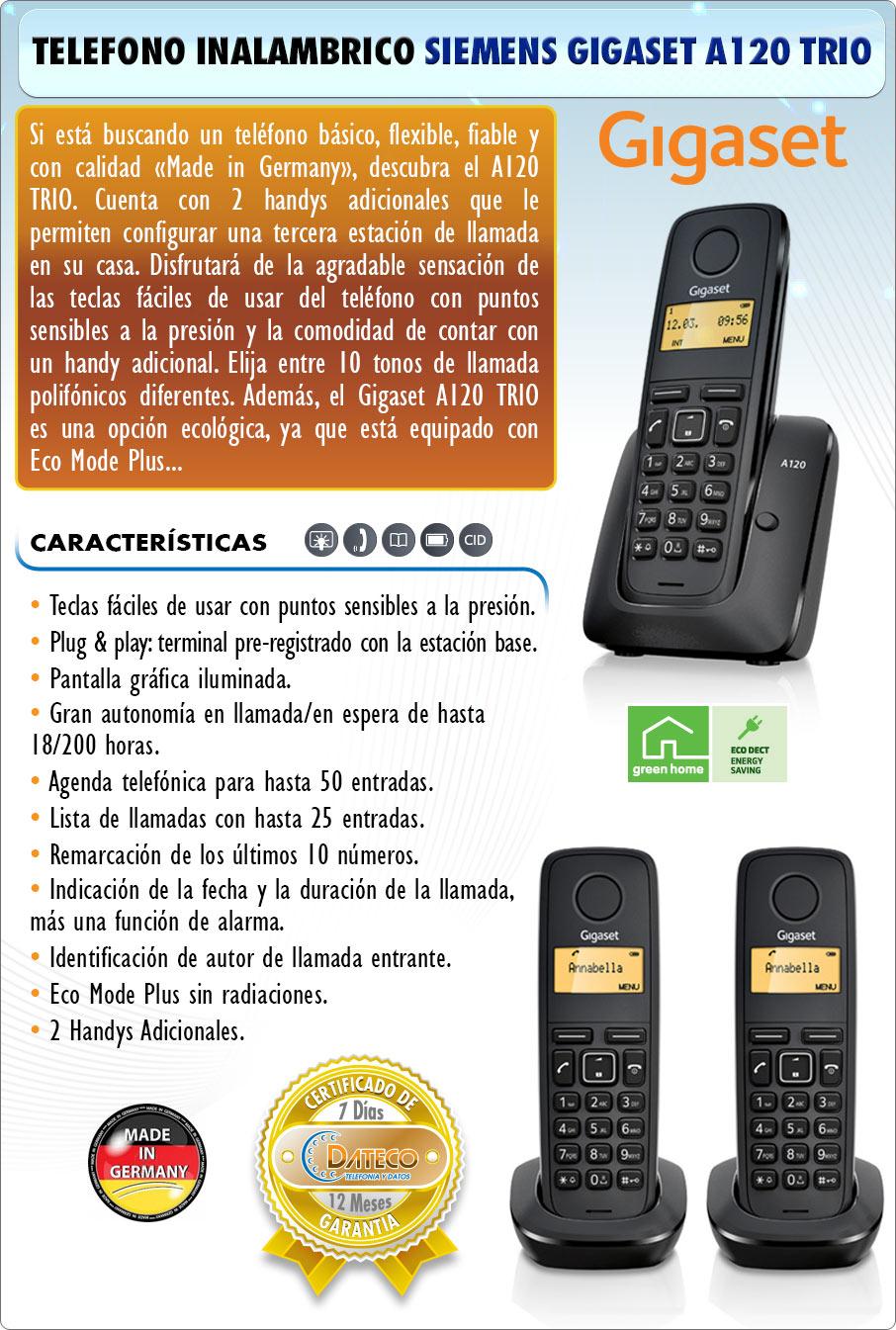 DATECO-telefonia-y-datos-telefono-inalambrico-siemens-gigaset-a120-Trio