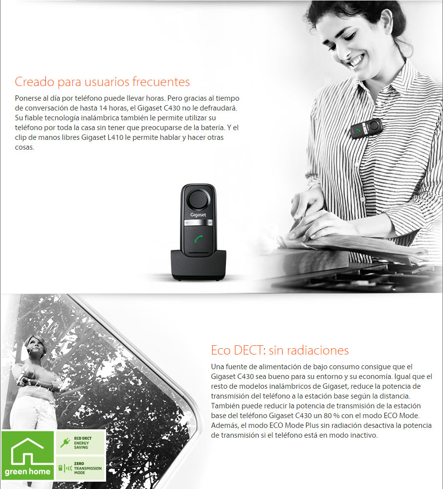 DATECO Telefonia y Datos -telefono-inalambrico-gigaset-C430-IP
